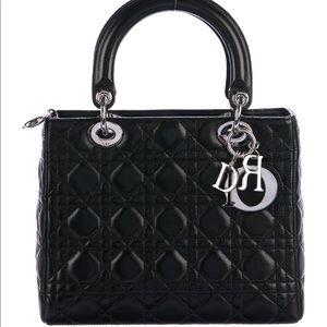 89aec347dd Dior · Dior Lady Medium Bag Black Lambskin. $2,899 $4,100. Size: OS · Dior